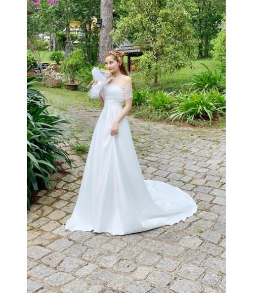 Đầm maxi cưới