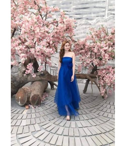 Đầm dạ hội kết bông eo